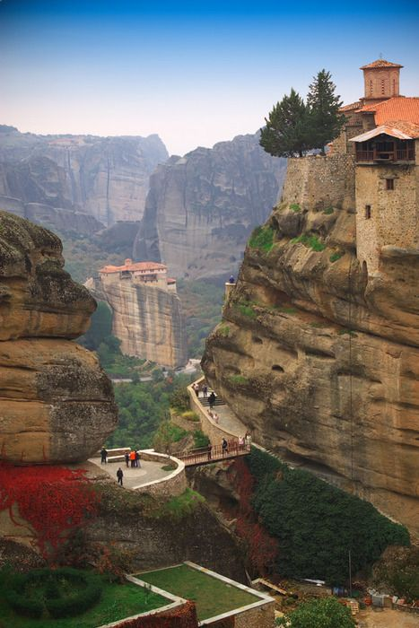 Mountain Monastery, Meteora, Greece: One Day, Greece Greece, Adventure, Mountain Monasteri, Travel, Places, Meteora Greece, Rocks, Friends Photography