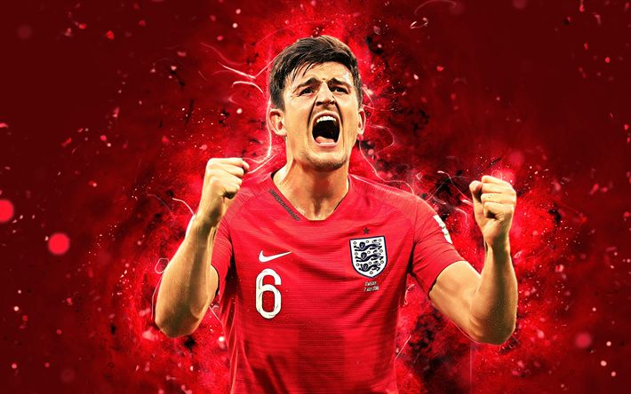 Download Wallpapers Harry Maguire, 4k, Abstract Art