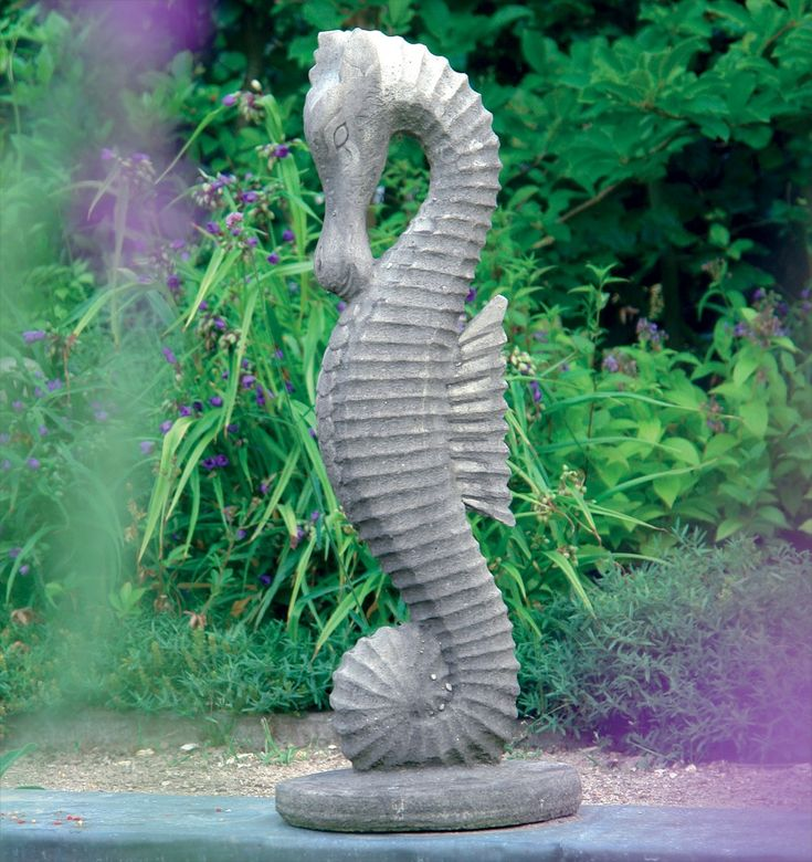 Seahorse Outdoor Statues For Gardens Hidden Amongst The Flowers, A Garden  Statue Can Add Magic