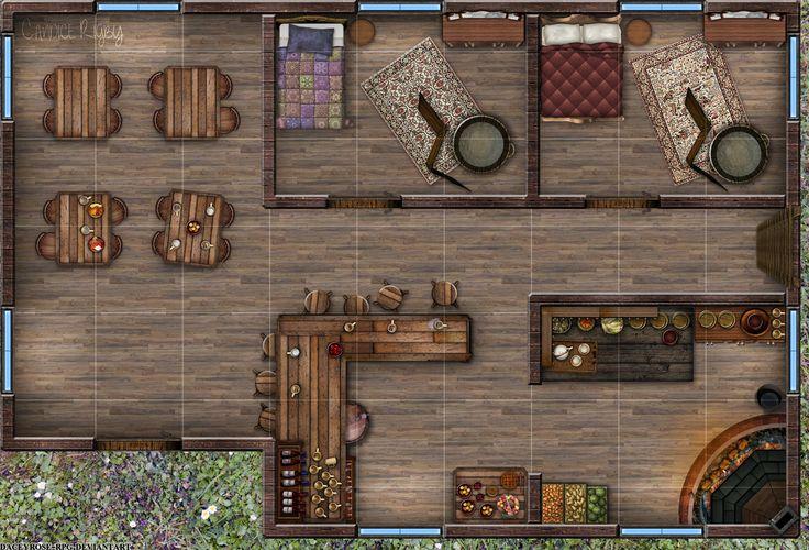 Little Tavern 1st Floor By Daceyrose Rpg On Deviantart