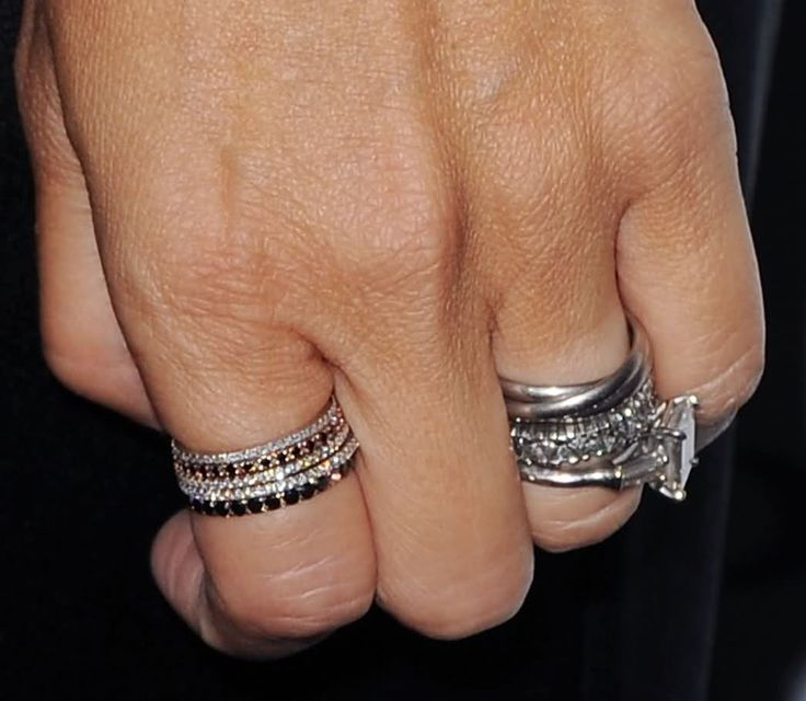 19 Gorgeous Stacked Wedding Rings - Woman Getting Married