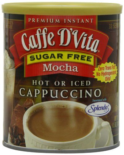 Caffe D'Vita Sugar Free Mocha Instant Cappuccino, 8.5-Ounce Canisters (Pack of 6) >>> To view further for this article, visit the image link. #Coffee