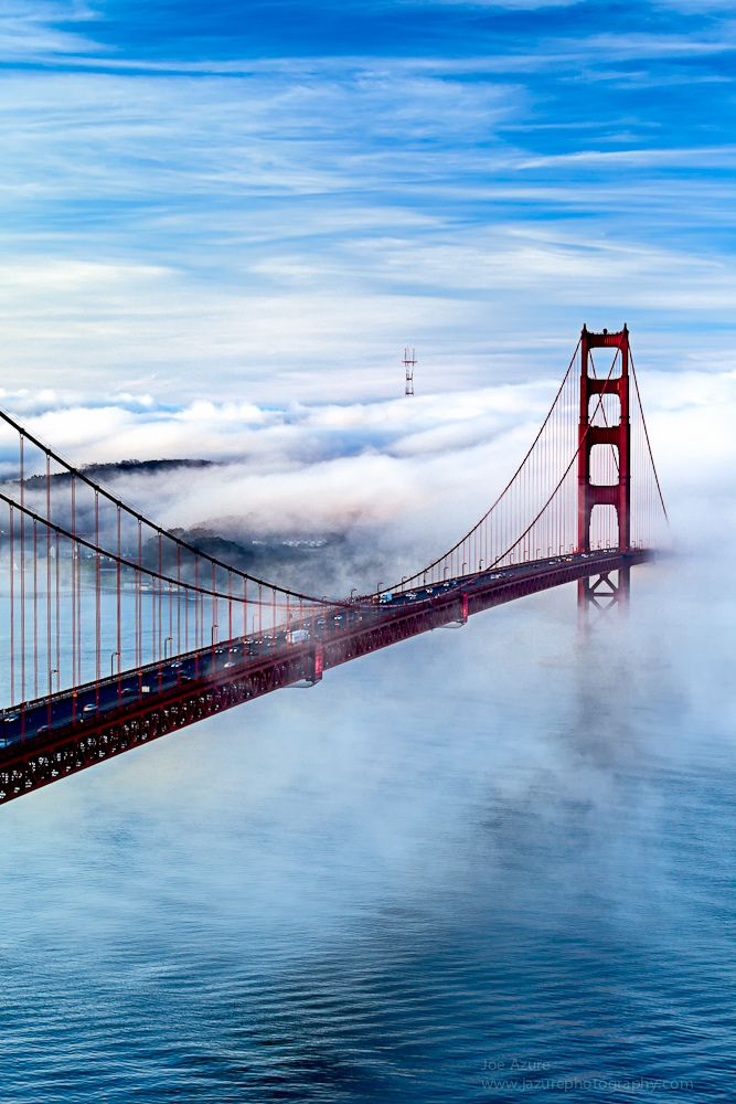 Golden Gate Bridge, San Francisco, California. I could stand and stare at this bridge all day long. I love it there.
