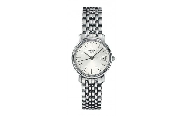 Tissot ladies Classic Timepiece Featuring a stainless steel bracelet, and a silver dial, with date function.  Quartz movement  24mm diameter case, 30m water resistant, Sapphire crystal glass