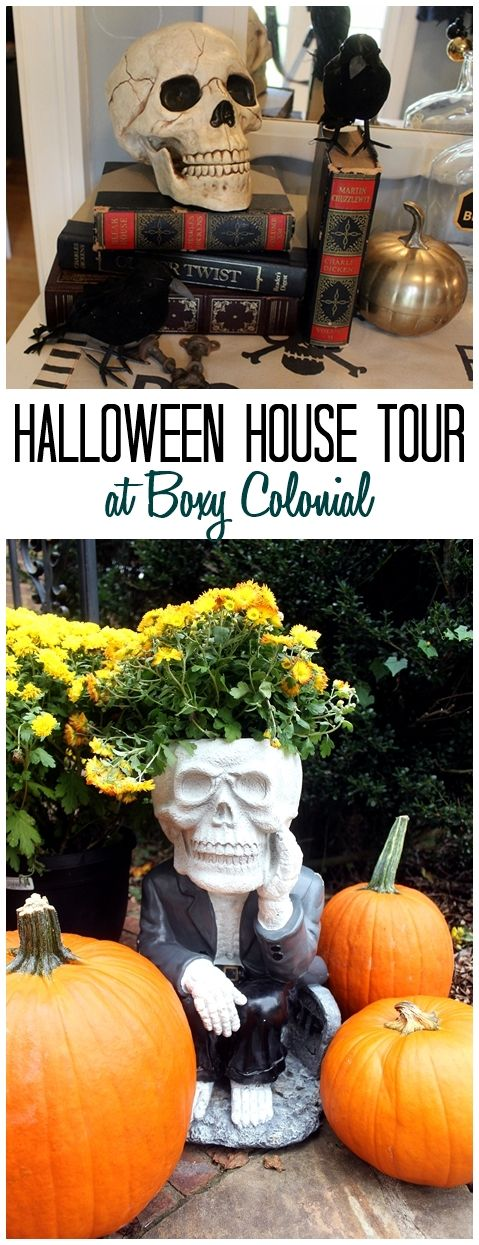 Halloween House Tour at Boxy Colonial