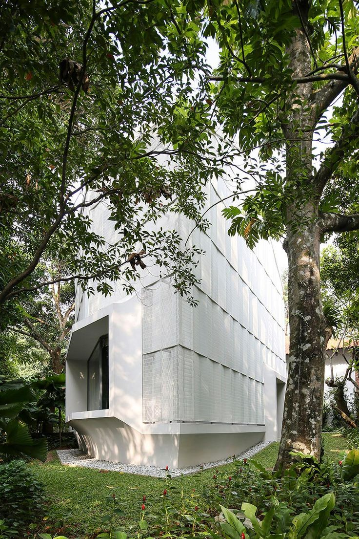Hut House in the Holland Village neighbourhood of Singapore covered in folded aluminium - CAANdesign | Architecture and home design blog