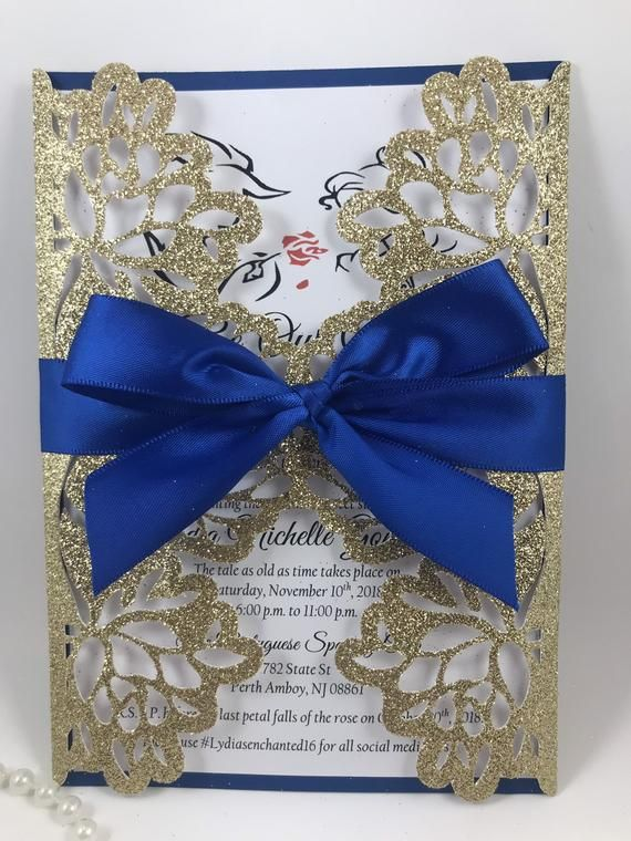 Beauty And The Beast Wedding Or Quinceanera Invitation Beauty And The Beast Wedding Invitations Beauty And The Beast Theme Beauty And The Beast Wedding Dresses