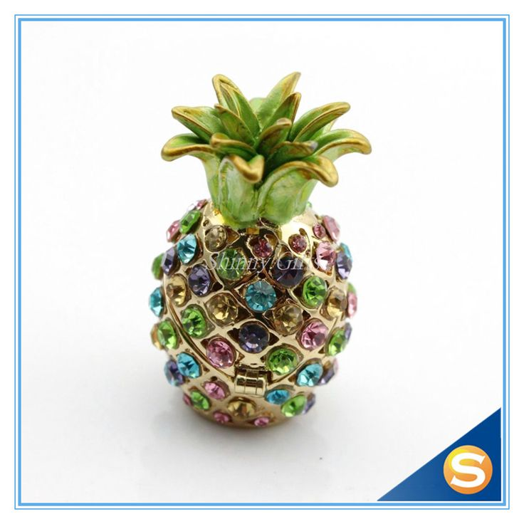 Find More Bottles,Jars & Boxes Information about Wholesales 2pcs/lot Miniature Pineapple Jeweled Trinket Box Jewelry Box with Crystal Stones,High Quality jewelry box kit,China box microwave Suppliers, Cheap jewelry shipping boxes from Shinny Gifts CO., Ltd on Aliexpress.com