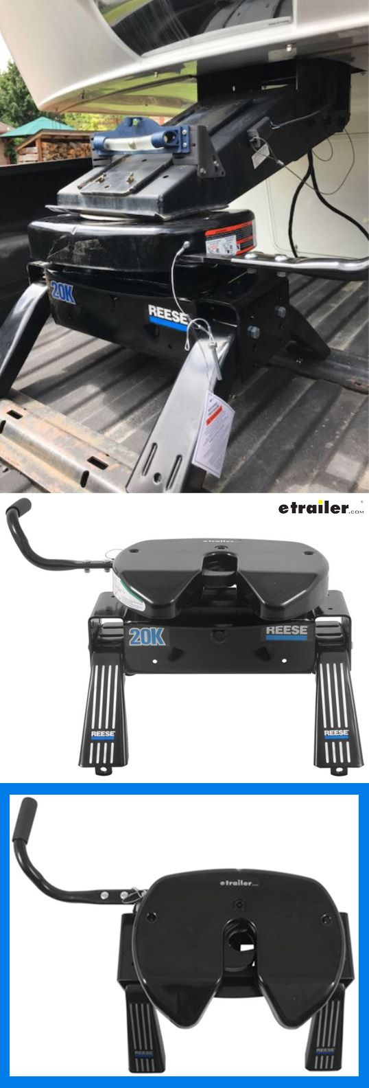 Tow your fifth wheel camper safely and securely with this Reese Select Plus 5th Wheel Trailer Hitch. Design offers superior jaw-to-king-pin contact for maximum security and minimum rattle