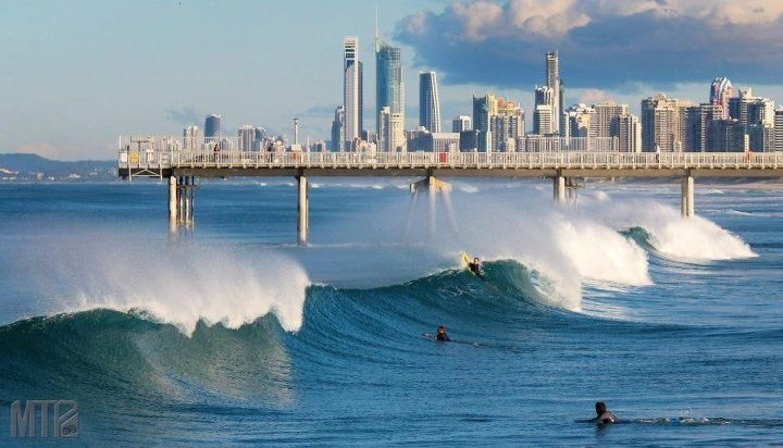 Surfing on the Spit, Gold Coast