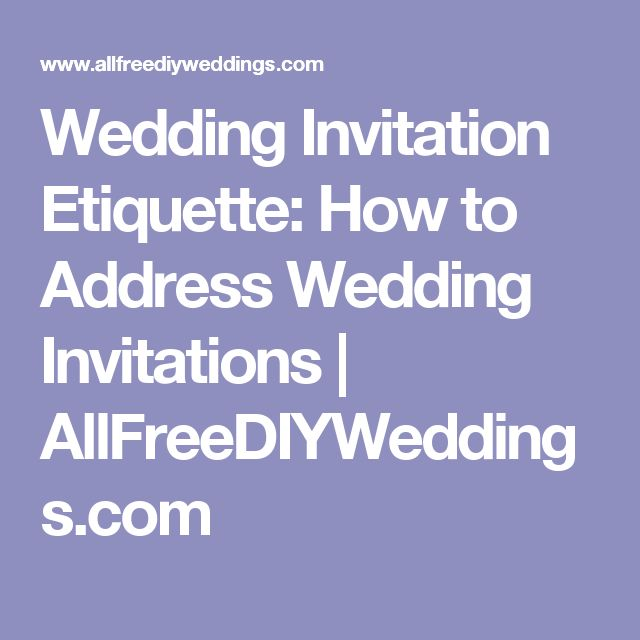 how to list return address on wedding invitations