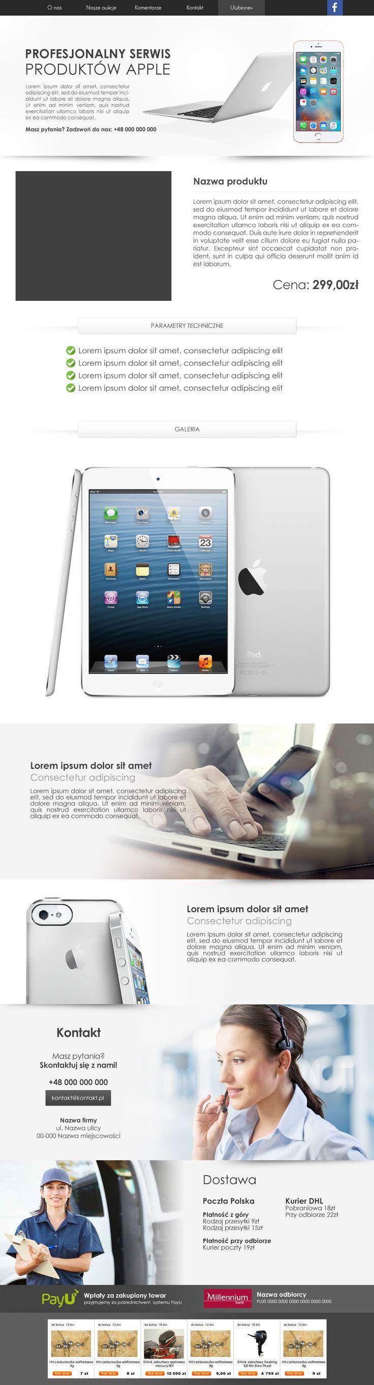 Szablon aukcyjny stworzony pod sprzedaż elektroniki. #szablonallegro #tablety #elektronika #allegro #allegrodesign