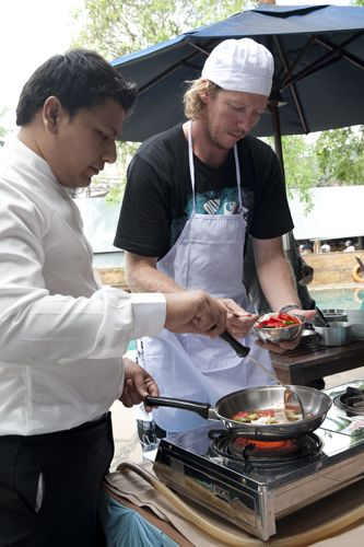 Thai Cooking Class in Phuket - Absolute Sea Pearl Resort - Cooking delicious Phad Prew Wan Pla.