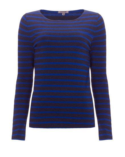 Long Sleeve Stripe Cotton T-Shirt