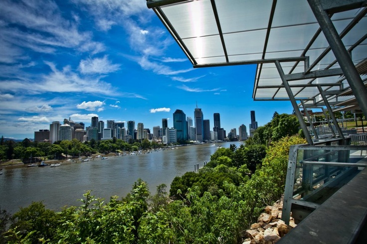 The Cliffs Cafe - Brisbane. Sit down to a great cup of coffee with magnificent views of the city