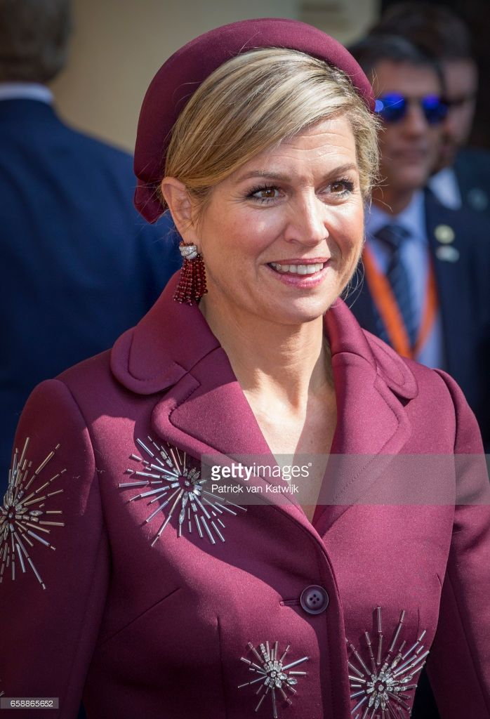 Queen Maxima of The Netherlands during the visit of the Argentinean President to prime minister Mark Rutte at The Binnenhof on March 28, 2017 in The Hague, The Netherlands. The President of Argentina is in the Netherlands for a two-day official state visit. (Photo by Patrick van Katwijk/Getty Images)