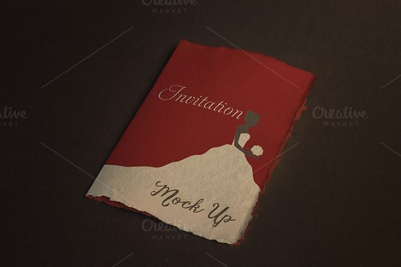 Invitation / Greeting Card Mock-UP by attraax on Creative Market