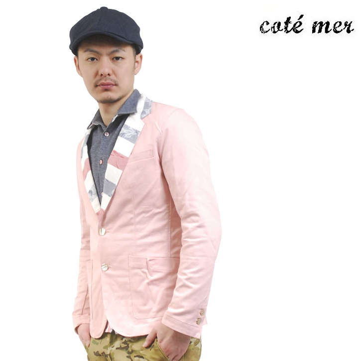 COTE MER (コートメール) テーラードジャケット ピンク【送料無料】 tj-cot-002