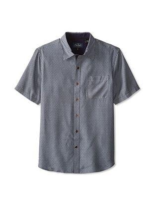 79% OFF Nat Nast Men's Prague Short Sleeve Silk Poplin Shirt (Evening)