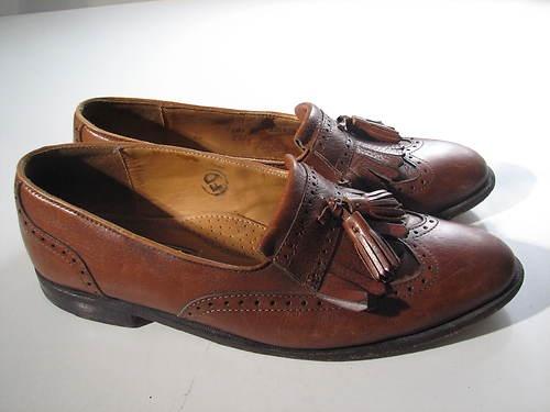Cole Haan USA Kiltie Tassle Loafer Dress Shoe Brown Leather Mens 10.5M