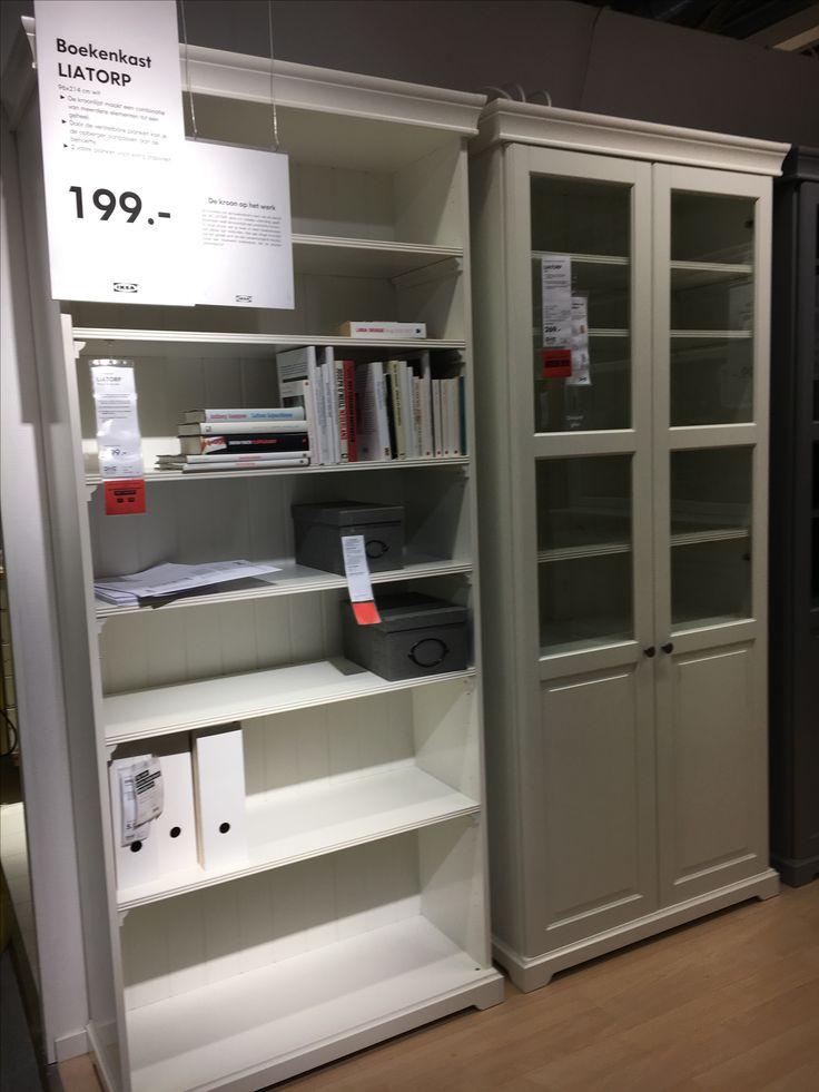 Leuke open kasten of gesloten vitrinekasten ... in een kleur die rust creëert