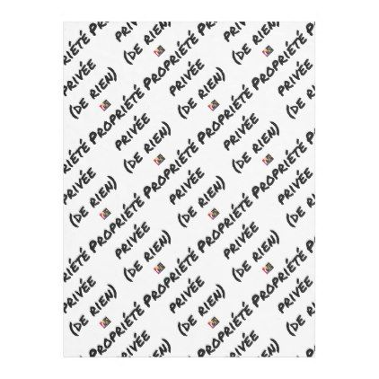 PRIVATE PROPERTY - Word games - François City Fleece Blanket - valentines day gifts love couple gift idea my love valentine