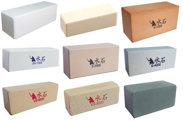 Nagura Japanese Sharpening Stone.800, 1000 & 3000, good to have.get a combination stone,cut in half=portable for your axe too.