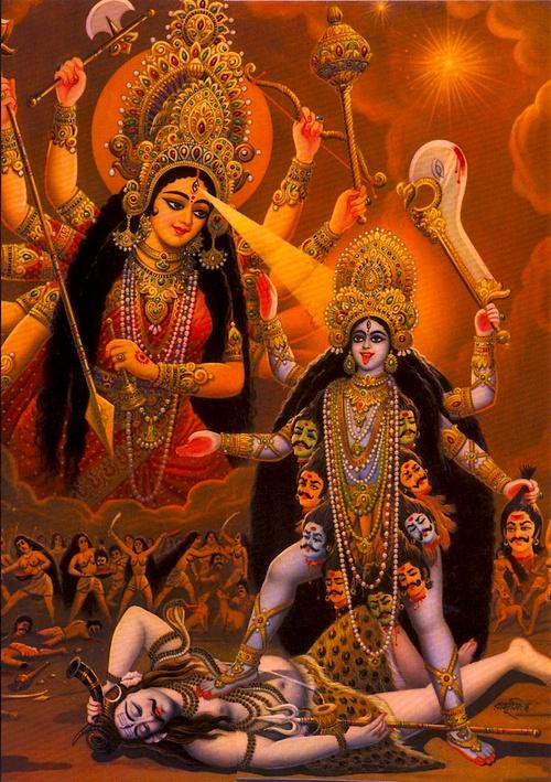 Durga empowering Kali
