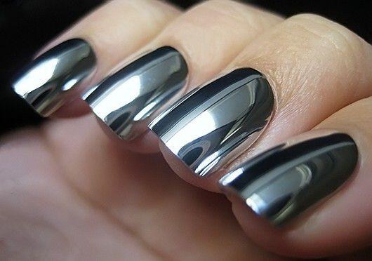 Зеркальный лак для ногтей с фото и отзывами