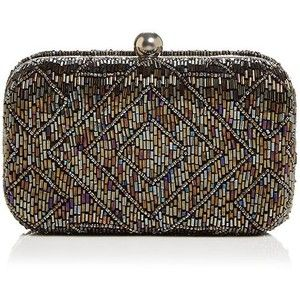 From St Xavier Hayley Beaded Clutch