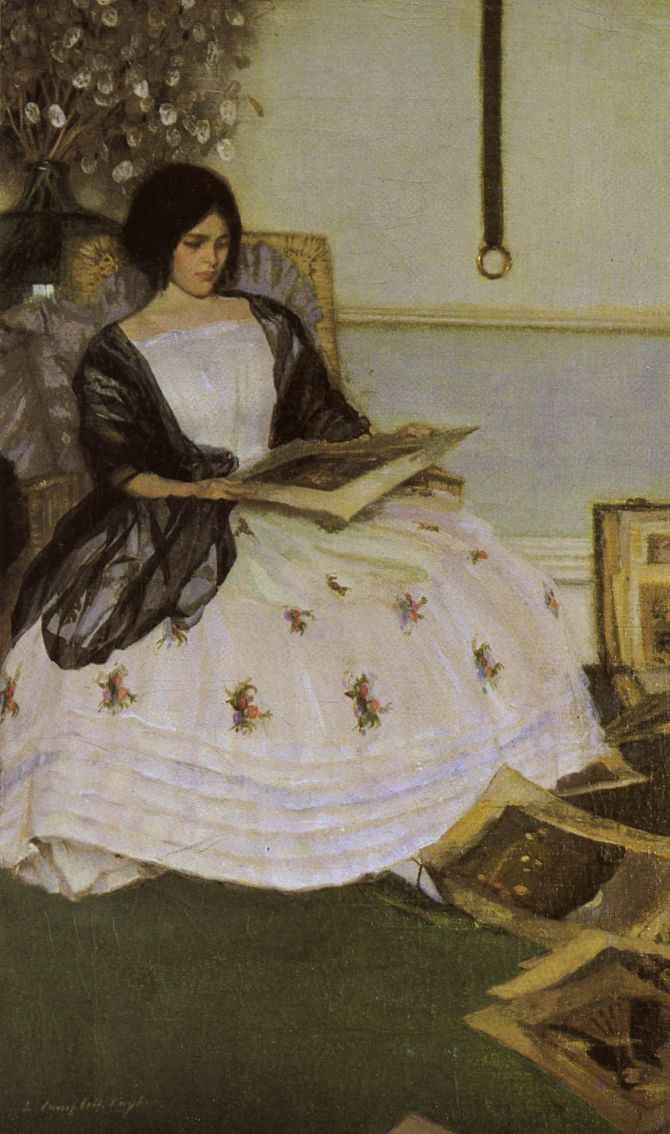 ✉ Biblio Beauties ✉ paintings of women reading letters & books - Leonard Campbell Taylor