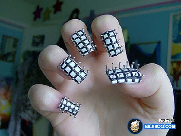 Nail paint design art pics images 2 most funny weird unusual nail paint design art pics images 2 most funny weird unusual nail prom nail art nailed it pinterest weird nails crazy nails and prom nails prinsesfo Images