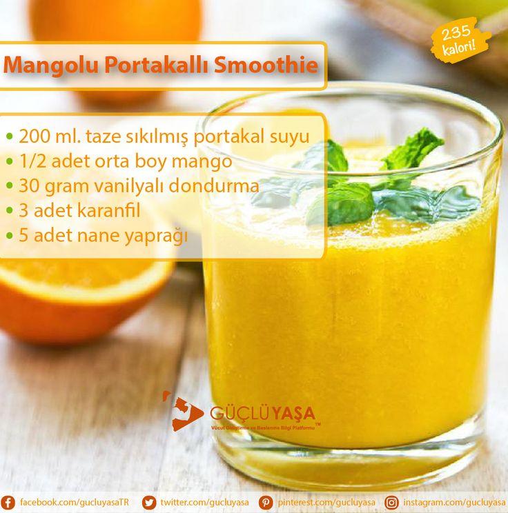 Kalorisi az ve sağlıklı bir içecek istiyorsanız Mangolu Portakallı Smoothie'yi denemelisiniz gucluyasa.com  #diyet #diet #beslenme #nutrition #sağlık #fitlife #fityaşam #sağlıklıyaşam #sağlıklıbeslenme #sebze #meyve #zayıflama #kiloverme #kilo #türkiye #güçlüyaşa