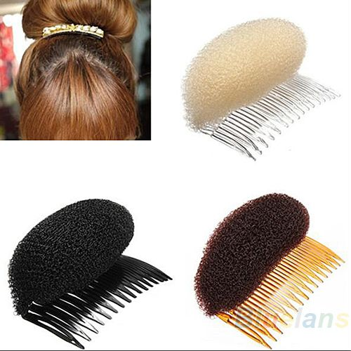 3 pçs/lote Hair Styler Volume Bouffant Beehive Shaper rolo Bumpits Bump espuma em limpar Comb acessórios Xmas 02CO 37ZO alishoppbrasil