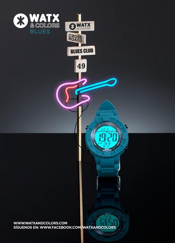 WATX & COLORS Blues: Relojes de colores tendencia con esferas y correas intercambiables. ¡Más de 100 combinaciones diferentes para estrenar reloj cada día!