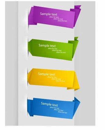 Insert ribbon vector origami tag screenshot