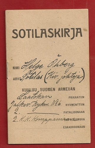 Finnish Civil War 1918 rare military pass of volunteer soldier | eBay