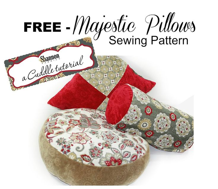 188 best Free Pillow Sewing Patterns images on Pinterest | Cushions Diy pillows and Sewing projects