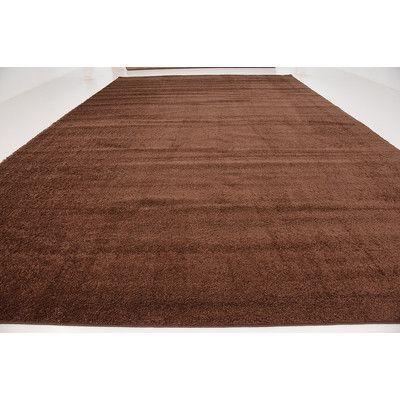 Unique Loom Solo Bison Brown Area Rug & Reviews | Wayfair