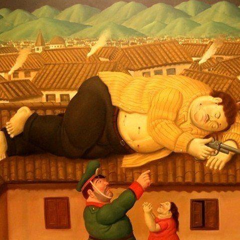 El famoso #cuadro de #Botero: la #muerte de #PabloEscobar #Escobar #Painting #Museo #Museum #Medellín #Medellin #Antioquia #MuseoDeAntioquia