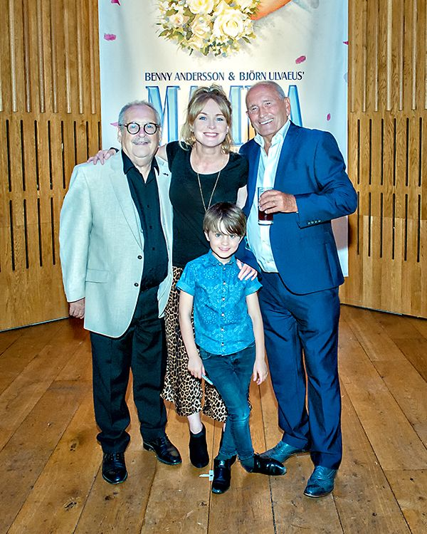 Comedians Tommy Cannon and Bobby Ball with Emmerdale's Michelle Hardwick.  We ❤️ this f-ABBA-lous photo from the MAMMA MIA! UK Tour's Press Night on 31 May 2017 at Leeds Grand Theatre.  For all MAMMA MIA! UK Tour dates and tickets visit: www.mamma-mia.com  Photo by Anthony Robling.  #MammaMiaMusical #MammaMiaUKTour #Leeds #PressNight