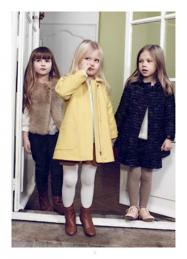 Chloe fall 2014 Parisian chic kidswear with pastel and neutral tones.