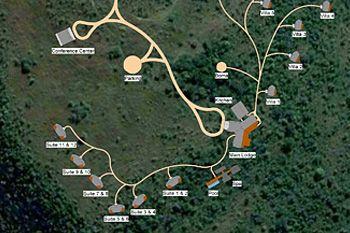 Rhino Ridge Safari Lodge Site Layout in the Hluhluwe iMfolozi Game Reserve