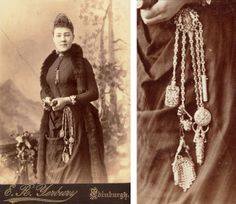 Before the Swiss Army Knife, Victorian women wore ornate multitools - Heres a device to add to your steampunk fiction: the chatelaine, a popular accessory from the 19th century. Part practicality, part fashion accessory, the chatelaine was the perfect way for women on the go to carry all of their tools.