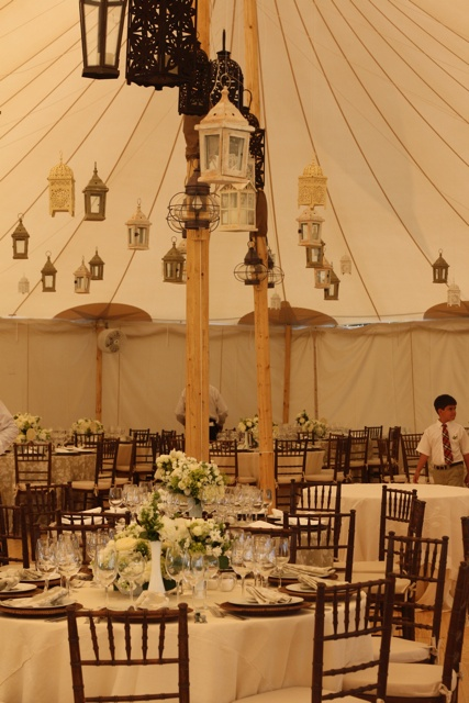wedding tent lighting ideas. Sperry Tent With Lanterns And Solid Sidewalls Wedding Lighting Ideas