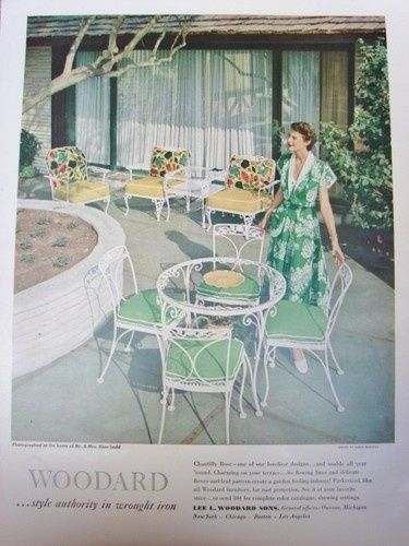 vintage patio furniture ad - Bing Images