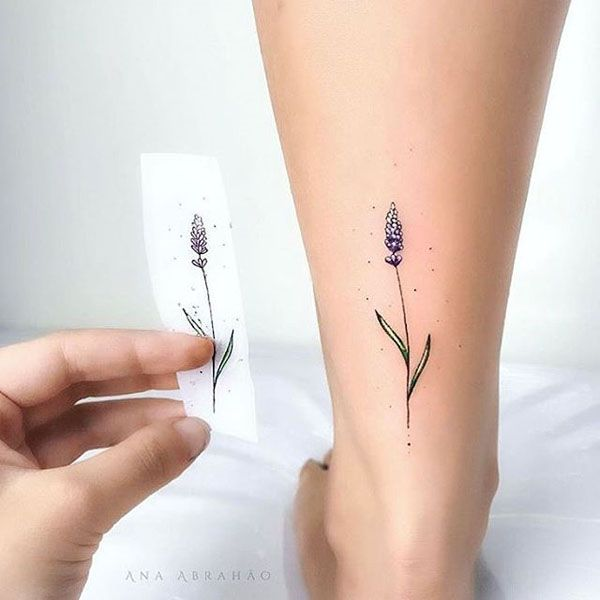 30 Stunning Colourful Flowers Tattoo Ideas Small Tattoos Small Hand Tattoos Lavender Tattoo