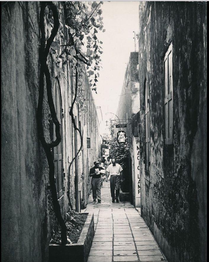 ST THOMAS c 1950 Typical Street