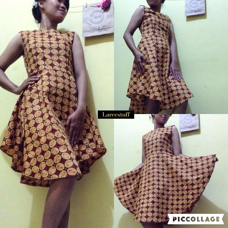Dress (custom) batik kawung