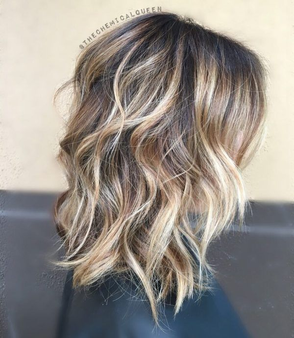 Brown Hair With Caramel And Platinum Balayage
